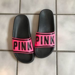 VS pink slip on sandals